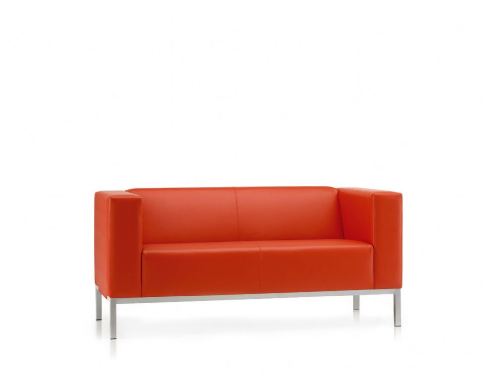 Pledge Box Visitor Soft Seating 2 Seater Sofa With 4 Leg Frame
